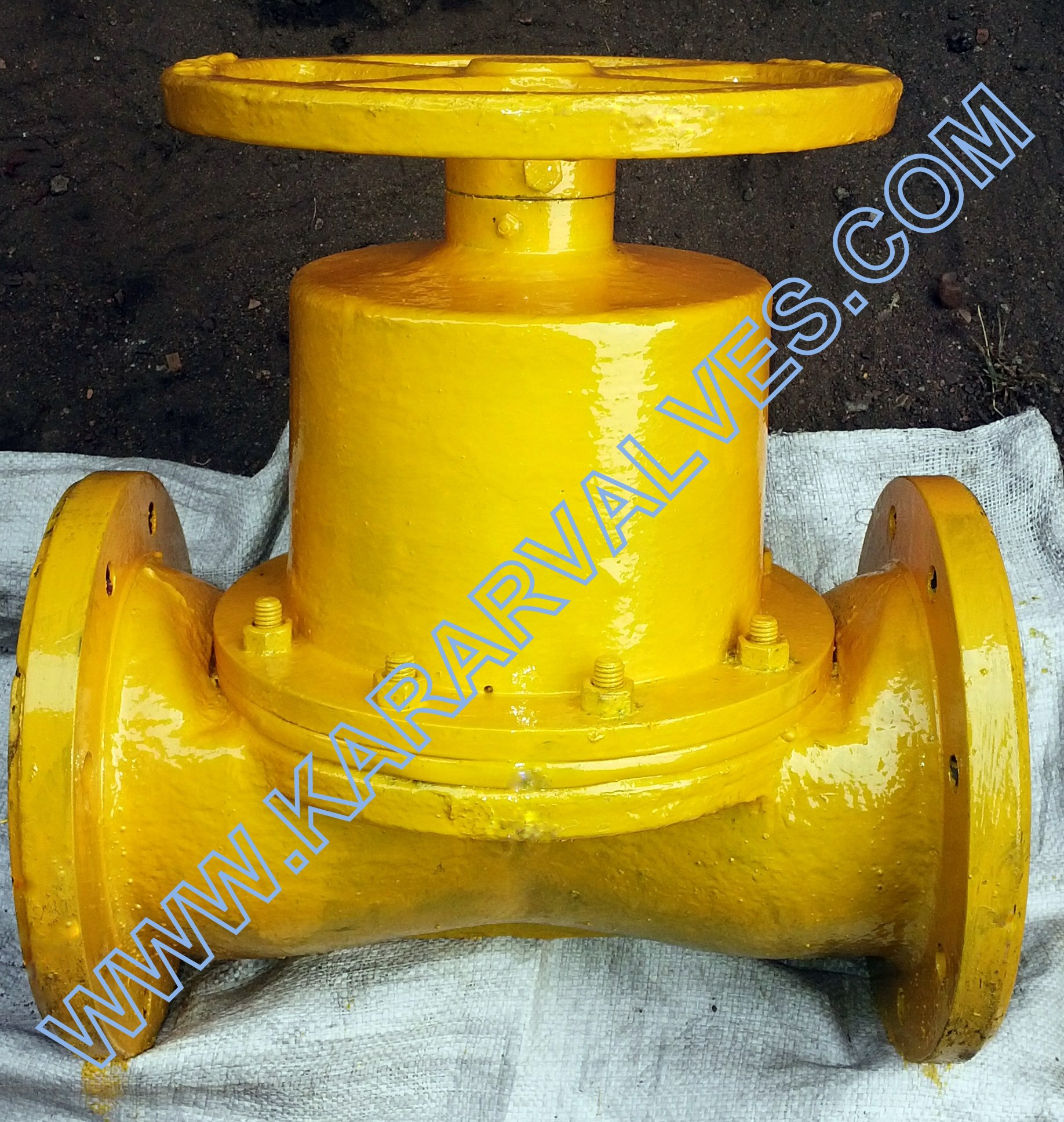 Weir Type Diaphragm valve / Straight Through Diaphragm Valve